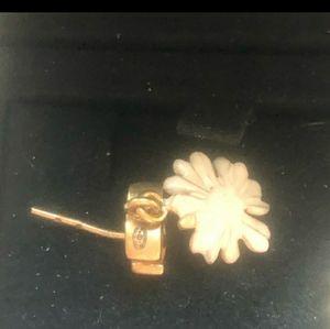 Authentic Chanel Daisy Earrings